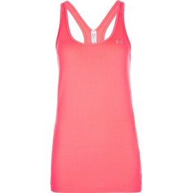 Women's Under Armour Heatgear Race tank orange pink