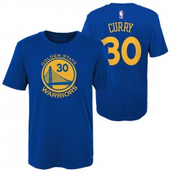 EK2B7TD99B30SC_T-shirt NBA Stephen Curry Golden State Warriors Bleu pour enfant