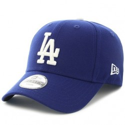 11546030_Casquette MLB Los Angeles Dodgers New Era essential 9forty bleu pour enfant à scratch