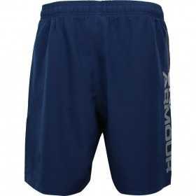 1320203-408_Short under armour Woven Graphic Wordmark Bleu Navy pour homme