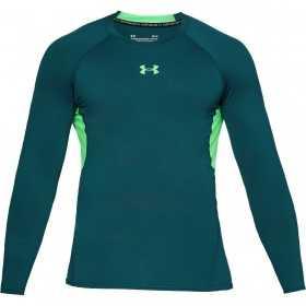 1257471-716_Maillot de compression à manches longues Under Armour Heatgear Vert pour homme