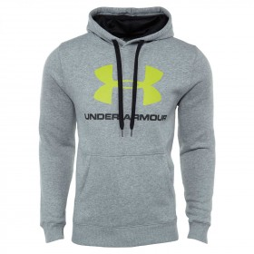 1302294-025_Sweat à capuche Under Armour Rival Fitted Graphic Hoody Gris pour homme