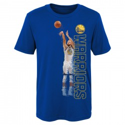 T-shirt NBA Stephen Curry Pixel pour enfants Bleu