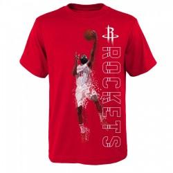 T-shirt NBA James Harden Houston Rockets Pixel pour enfants rouge