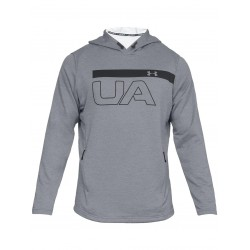 1306445-035_Sweat à capuche Under Armour MK1 Terry Graphic Hoodie Gris pour homme