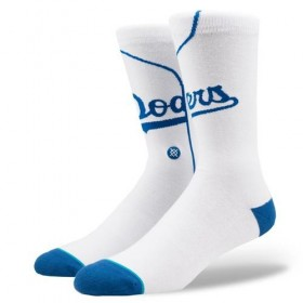 M545A18DOD_Chaussettes MLB Los Angeles Dodgers Stance Arena Home Blanc