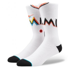 M545A18MAS_Chaussettes MLB Miami Marlins Stance Arena Home Blanc
