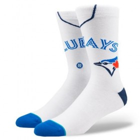 M545A18BLU_Chaussettes MLB Toronto Blue Jays Stance Arena Home Blanc