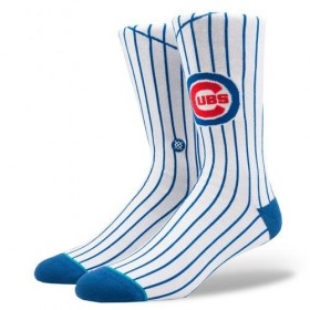 M545A18CUB_Chaussettes MLB Chicago Cubs Jays Stance Arena Home Blanc