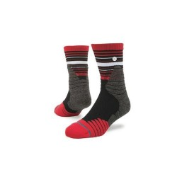 M359A17TRE_Chaussettes de Basketball Stance Trey Low Quarter Rouge