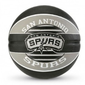 83-512Z_Ballon de Basketball exterieur Spalding NBA San Antonio Spurs Noir taille 7