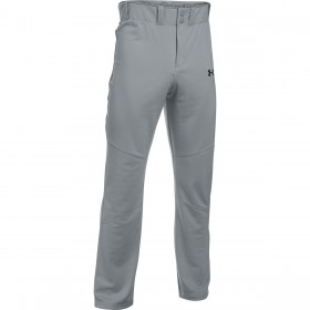 1281190-075_Pantalon de Baseball pour Junior Under Armour Lead Offs Gris