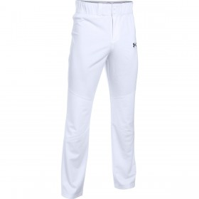 1281190-100_Pantalon de Baseball pour Junior Under Armour Lead Off Blanc