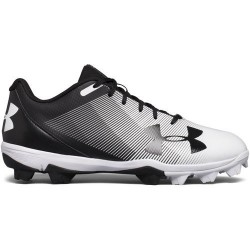 1297317-011_Crampons de baseball moulés Under armour Lead off RM low 2018 RM Noir et blanc pour Homme
