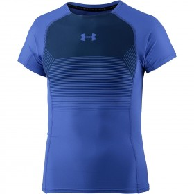 1320194-584_T-shirt de compression Under Armour Threadborne Vanish Bleu pour homme