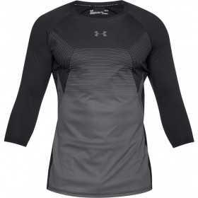 1306417-001_T-shirt manche 3/4 Under Armour Threadborne Vanish Noir pour homme