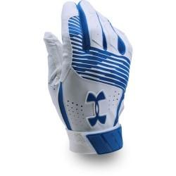 1299530-400_Gant de Batting Under Armour Clean-Up VI Blanc Bleu pour le Baseball et Softball