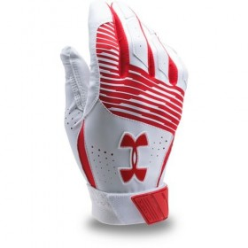 Gant de Batting Under Armour Clean-Up VI Blanc Rouge pour le Baseball et Softball