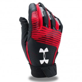 1299530-002_Gant de Batting Under Armour Clean-Up VI Noir Rouge pour le Baseball et Softball