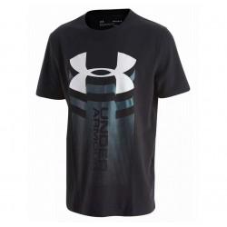1310271-001_T-shirt pour enfant Under Armour Vertical logo Noir