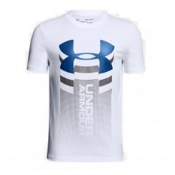 1310271-100_T-shirt pour enfant Under Armour Vertical logo Blanc