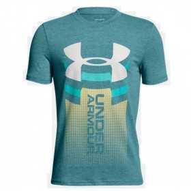 1310271-716_T-shirt pour enfant Under Armour Vertical logo vert