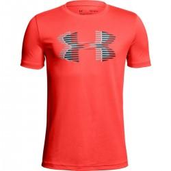 1306073-985_T-shirt pour enfant Under Armour Big Logo Solid Orange