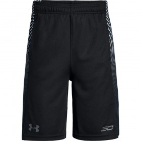 1309322-002_Short under armour SC30 Doppler Noir pour enfant