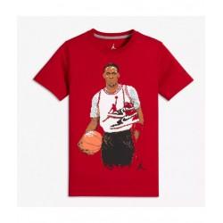 954725-R78_T-shirt pour enfant Jordan Classic Pixel Rouge