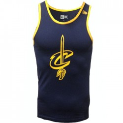 Men's New era Team apparel pop logo tank NBA Cleveland Cavaliers navy