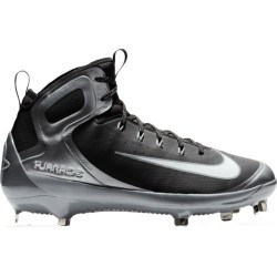 Men's Nike Alpha Huarache Elite Metal Hight Baseball cleats Black