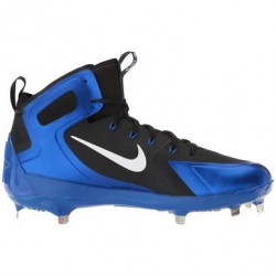Men's Nike Alpha Huarache Elite Metal Hight Baseball cleats Black and blue