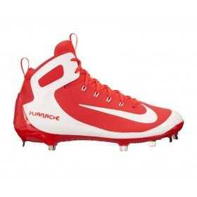 923428-611_Crampons de Baseball métal Nike Alpha Huarache Elite Montante Blanc et rouge Pour Homme