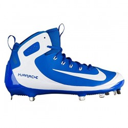 923428-411_Crampons de Baseball métal Nike Alpha Huarache Elite Montante Blanc et Bleu Pour Homme