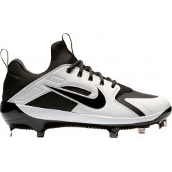 AH7524-002_Crampons de Baseball métal Nike Alpha Huarache Elite Low Blanc et Noir Pour Homme