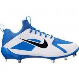 AH7524-400_Crampons de Baseball métal Nike Alpha Huarache Elite Low Blanc et Bleu Pour Homme