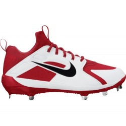 AH7524-600_Crampons de Baseball métal Nike Alpha Huarache Elite Low Blanc et rouge Pour Homme