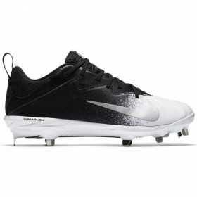 Crampons de Baseball métal Nike Lunar Vapor UltraFly Low Noir Blanc Pour Homme