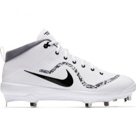 Crampons de Baseball métal Nike Air Trout 4 Mid Blanc  Pour Homme