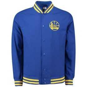 11569503_Bomber NBA Golden State Warriors New Era Varsity pop Logo Bleu pour Homme