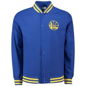 New Era Varsity pop Logo Bomber NBA Golden State Warriors azul para hombre