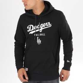 11569456_Sweat à capuche MLB Los Angeles Dodgers New Era Team Apparel Noir pour homme