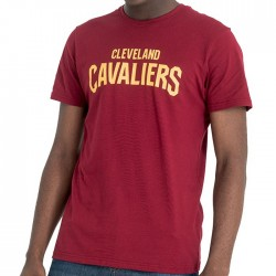 11569498_T-Shirt NBA Cleveland Cavaliers New Era Team Apparel Pop Rouge pour Homme