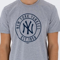 11569536_T-Shirt MLB New York Yankees New Era Wheel Gris pour Homme