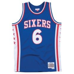 Maillot NBA swingman Julius Erving Philadelphia 76ers 1976-77 Hardwood Classics Mitchell & ness Bleu
