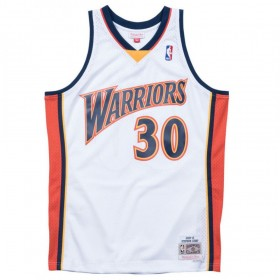 Traje de baloncesto Swingman Stephen Curry Warriors 2009-10  de NBA  Clásicos de madera dura Mitchell & ness blanco