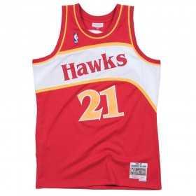 MN-NBA-353J-305-FGYDWK_Maillot NBA Dominique Wilkins Atlanta Hawks 1986-87 Mitchell & ness Hardwood Classics rouge