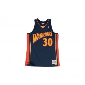Maillot NBA Stephen Curry Golden State Warriors 2009-10 Mitchell & ness Hardwood Classics swingman Bleu Marine