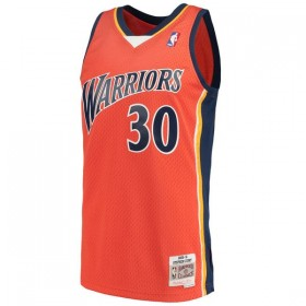 B484V4-GSW-O-CB1_Maillot NBA Stephen Curry Golden State Warriors 2009-10 Mitchell & ness Hardwood Classics swingman Orange