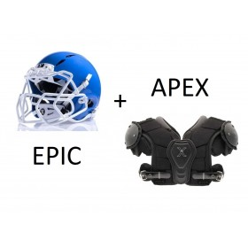 packepicapex_Pack Football Americain casque de football américain Xénith Epic + épaulière Xenith apex